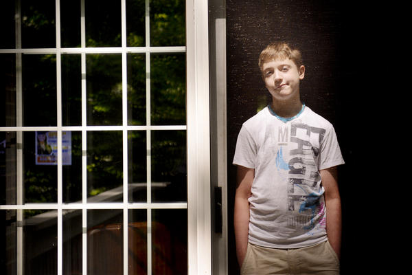 Carson Luke, 13, was injured when he was restrained at a school in Virginia when he was 10 years old.