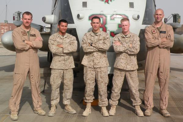 """Capt. Nathan McHone (far left) was a pilot with the Marines. """"He always wanted to fly,"""" says his mother, Sylvia McHone. Joining the military gave him the chance to fly the very best equipment."""