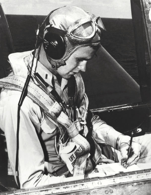 Bush served in the U.S. Navy from 1942 to 1945. He was one of the youngest pilots in the Navy during World War II.
