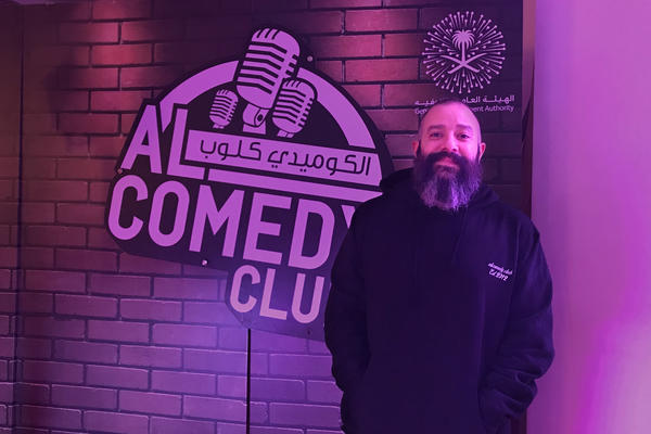 """""""It surprises me how fast all of these changes became normal,"""" says Yaser Bakr, the founder of Jeddah's AlComedy Club. This is the first year where men and women are sitting in the audience together, he says."""