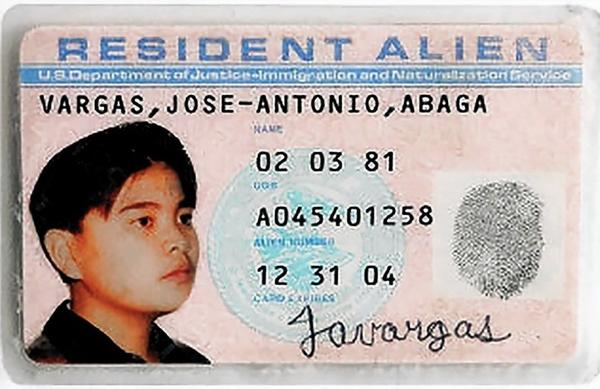 Jose Antonio Vargas learned his green card was counterfeit when he went to apply for a driver's license.