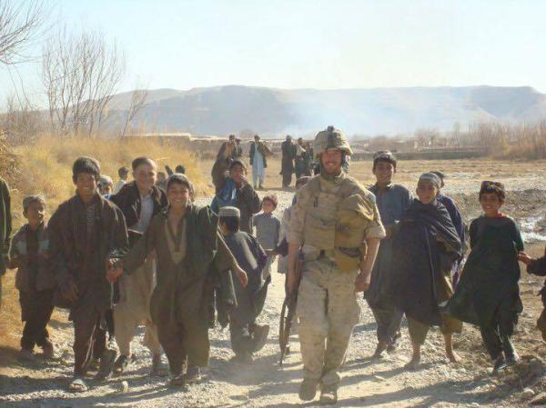 Burke deployed to southern Afghanistan in 2009. Based in a remote village, he was friendly with the local children and then scarred when several died when they found a piece of unexploded ordnance.