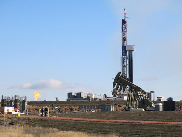 An oil well just south of Watford City, North Dakota, is one of thousands drilled in recent years. The oil-rich Bakken shale formation has made North Dakota the second-largest crude-producing state behind only Texas.