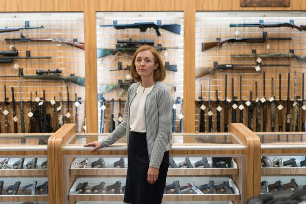 "Dr. Emmy Betz, a co-founder of the Colorado Firearm Safety Coalition, led a meeting of the group at the Centennial Gun Club. ""If you want to reduce suicide deaths, you have to talk about firearms,"" Betz says. ""And if you want to reduce firearm deaths, you have to talk about suicide."""