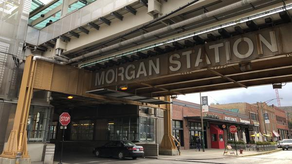 """McDonald's moved its corporate headquarters from the Chicago suburbs into the city. The new location is near two Chicago Transit Authority """"L"""" stops, including Morgan Station, a 2012 addition to the system."""