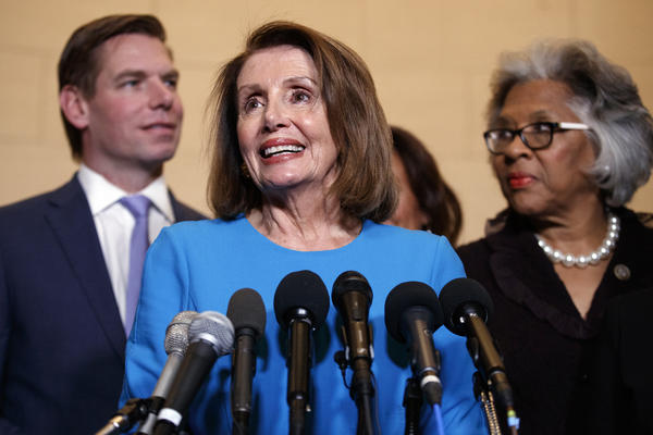 House Democratic leader Nancy Pelosi of California has been chosen by her party to be speaker of the House come January. The final vote on speakership is on Jan. 3.
