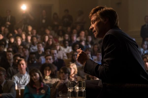 In <em>The Front Runner, </em>Hugh Jackman plays Gary Hart, whose 1987 presidential campaign was swiftly derailed by reports of an extramarital affair.