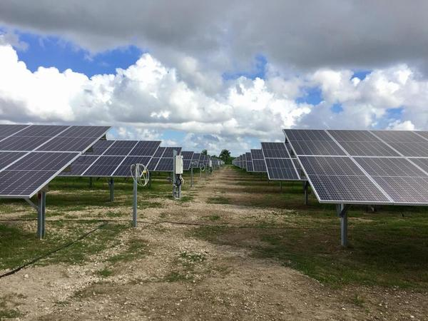 Solar panels in Miami-Dade.