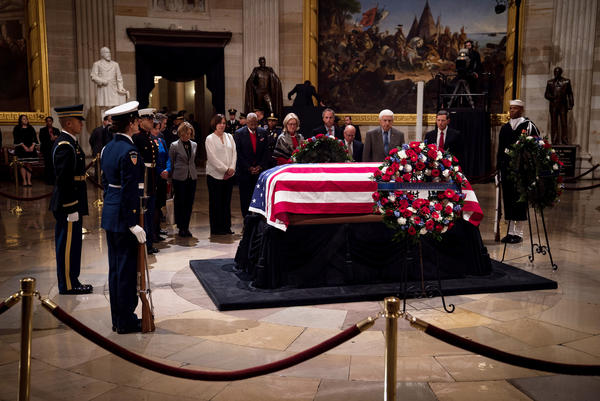 Bush is the first president to lie in state since Gerald Ford, who died in 2006.