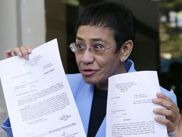 A vocal critic of the government of Philippine President Rodrigo Duterte, Maria Ressa declared her innocence after turning herself in to answer tax evasion charges. She posted bail at the court in Manila on Monday.