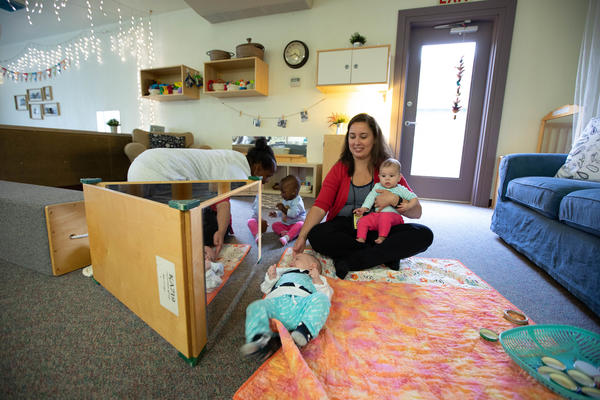 The daycare workers say mothers have stronger bonds with their children in the program.