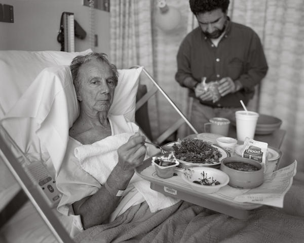 After Gene's first stroke, in the University of Massachusetts Medical Hospital, Worcester, Mass., May 19, 1998.