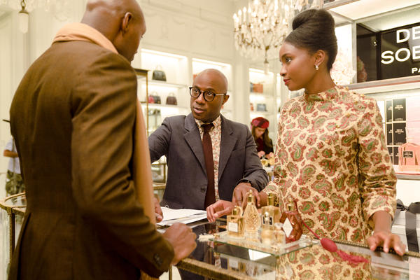 Barry Jenkins (center) directs actor KiKi Layne and another on the set of <em>If Beale Street Could Talk.</em>