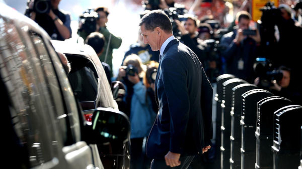 Michael Flynn, former national security adviser to President Trump, leaves following his plea hearing at the Prettyman Federal Courthouse in Washington, D.C., last December.