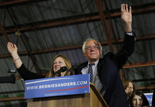 Racial justice leaders say Sen. Bernie Sanders and his wife, Jane O'Meara Sanders, seen here in 2016, failed to include prominent Vermonters of color at a conference in Burlington last week.
