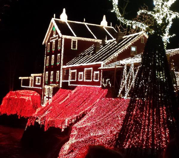 The annual light display draws hundreds of visitors every night from all over the tri-state area, running every night through New Year's Eve.