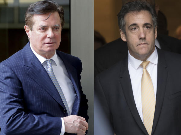 Court documents released Friday suggest that both former Trump campaign chairman Paul Manafort (left) and former Trump attorney Michael Cohen could end up in prison.