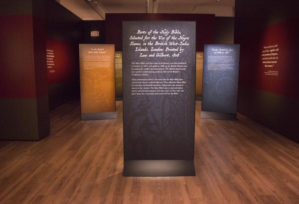 Anthony Schmidt, associate curator of Bible and Religion in America at the museum, says the first instance of the abridged version of the Bible titled, <em>Parts of the Holy Bible, selected for the use of the Negro Slaves, in the British West-India Islands</em>, was published in 1807.