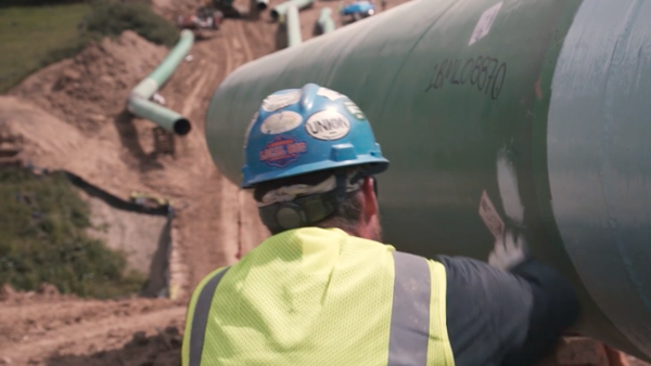Pipeline construction has been halted during a legal dispute over a wildlife permit.