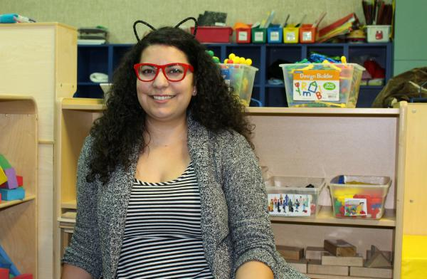 Special education teacher Rebekah Ozuna poses for a portrait in her classroom at Knox Early Childhood in Oct. 2018.