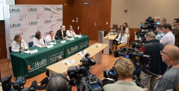 Doctors from the University of Miami's Miller School of Medicine present their findings Wednesday regarding the mysterious illness of U.S. diplomats in Cuba.
