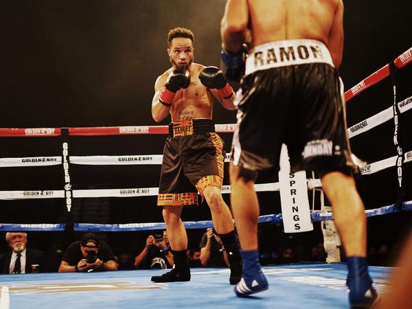 Patricio Manuel, the first openly transgender man to box professionally in the U.S., faced off against Hugo Aguilar on Saturday evening at a casino in Indio, Calif. The judges declared Manuel the winner.