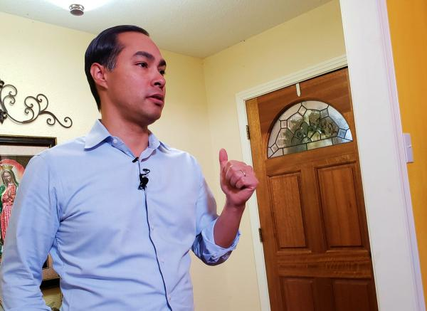 Julian Castro from his San Antonio home.
