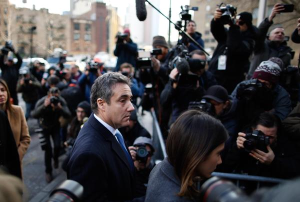 Michael Cohen, President Trump's former personal attorney, arrives at federal court for his sentencing hearing on Wednesday in New York City. He was sentenced to three years in prison.