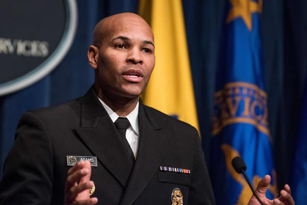 U.S. Surgeon General Dr. Jerome Adams said Tuesday that local restrictions, including bans on indoor vaping, are needed to reduce youth e-cigarette use.