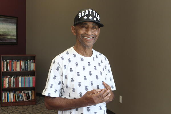 71 year-old Milton Malphus struggles to live on diability payments. He considers himself lucky to be able to live at the Ella at Encore, where all residents only pay 30 percent of their income in rent.