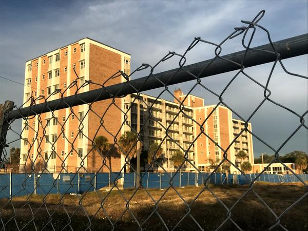 The vacant Mary Bethune High Rise Apartments will be renovated as part of Tampa's West River project. It stands behind a lot that will soon be home to the Renaissance at West River. The two buildings will add more than 300 units of senior housing.