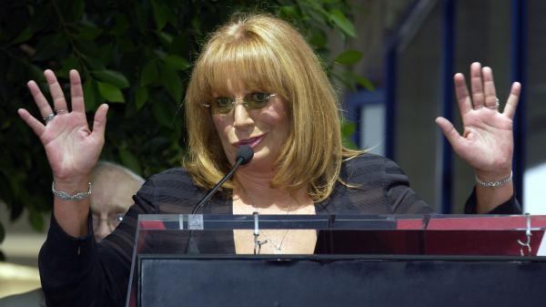 Marshall speaks at the ceremony honoring her and Williams with a star on the Hollywood Walk of Fame on Aug. 12, 2004, in Hollywood, Calif.