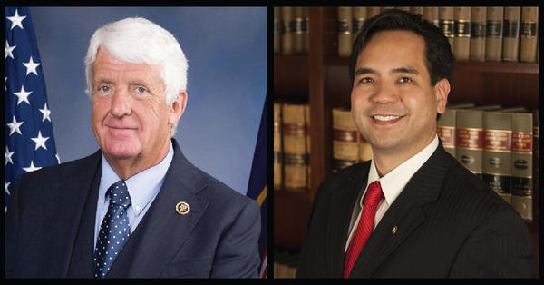 Rep. Rob Bishop (left) and Utah Attorney General Sean Reyes (right) are on the short list to helm the U.S. Department of the Interior after Ryan Zinke's departure.
