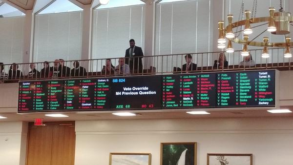 State lawmakers voted on Dec. 19, 2018 to override North Carolina Gov. Roy Cooper's veto of voter ID. The move means photo ID at the polls is now law.
