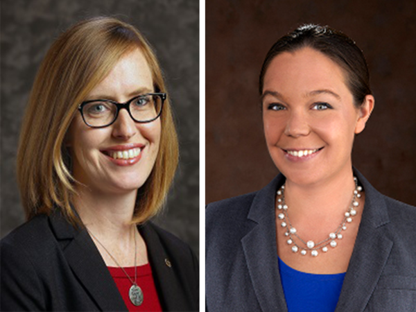 Kansas state Sen. Dinah Sykes, left, and state Rep. Stephanie Clayton have switched parties, both declaring themselves Democrats.