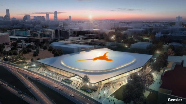 An artist's rendering of the new UT arena.
