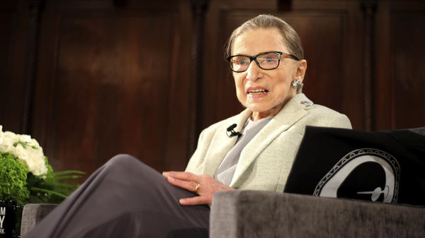 Supreme Court Justice Ruth Bader Ginsburg appears at an event in New York earlier this month, days before undergoing surgery for early stage lung cancer. The 85-year-old justice was discharged from the hospital on Christmas Day.