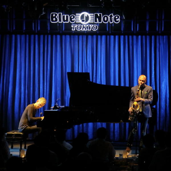 Joshua Redman and Brad Mehldau perform at Blue Note Tokyo on Oct. 13, 2016.