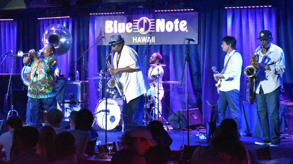 The Dirty Dozen Brass Band performs at Blue Note Hawaii on Oct. 11, 2016.