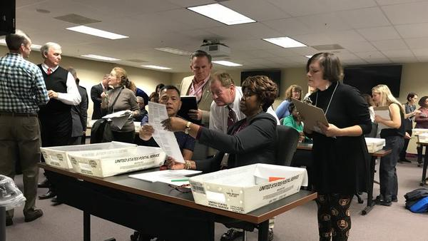 The Duval County Supervisor of Elections staff is doing a manual recount of thousands of ballots Friday.