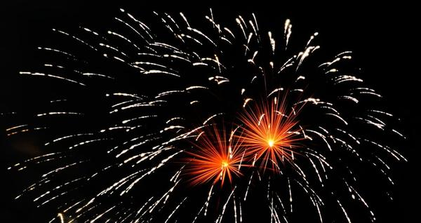 Fireworks are a safer way to celebrate the New Year than firing guns into the sky.