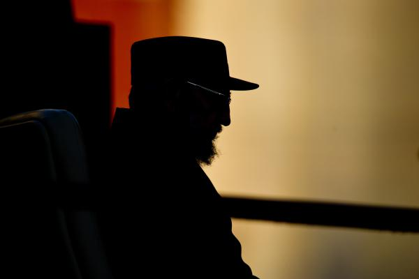 Former Cuban President Fidel Castro gives a speech on Sept. 3, 2010, at the University of Havana. Castro spoke to the students about the possibility of a nuclear war.