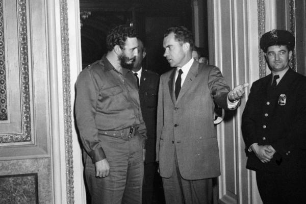 Shortly after Castro took power in Cuba, he visited the U.S. and met with then-Vice President Richard Nixon in Washington, D.C., on April 19, 1959. In the two years after their meeting, Cuba would nationalize U.S.-owned oil refineries, the U.S. would impose economic sanctions and cut diplomatic relations with Cuba, and Cuba was declared a socialist state.