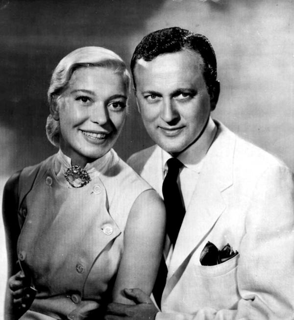 Channing and her husband, television producer Charles Lowe, pose for a portrait in this 1956 photo. Lowe, who guided the career of Channing during their four-decade marriage, died in 1999. He was 87.