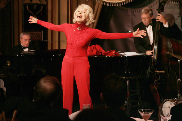 Channing gives a performance of her one-woman show, <em>The First 80 Years are the Hardest,</em> at the cabaret Feinstein's at the Regency in New York in October 2005.