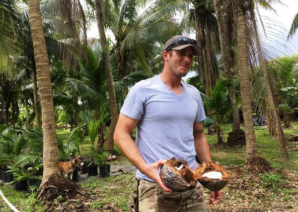 Alex Hill, who was in the Army Airborne, started a business selling fresh coconut water to tourists along the Florida coast.