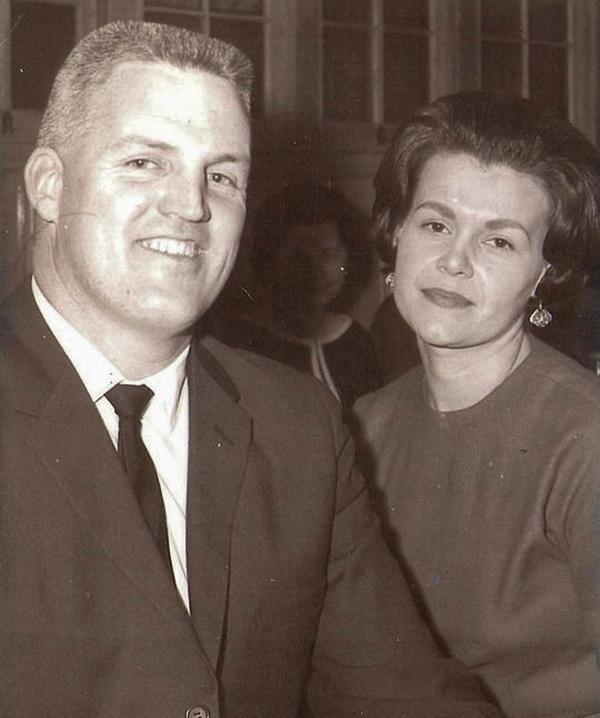 <em></em>Bud and Jackie Jones pose together in 1963.