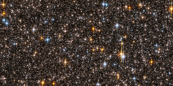 This photo, released 04 October 2006, shows one-half of the Hubble Space Telescope field of view.