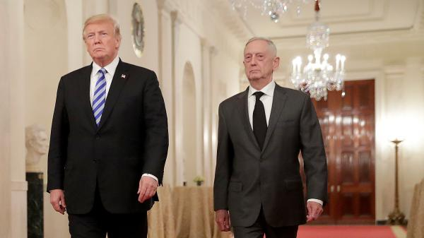 President Trump and Defense Secretary James Mattis at the White House in October. Mattis will be replaced by Deputy Defense Secretary Patrick Shanahan on Tuesday.