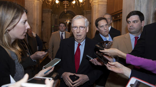 "After the meeting, Senate Majority Leader Mitch McConnell said, ""I don't think any particular progress was made."""